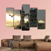 3d illustration fantasy landscape with a fairytale multi panel canvas wall art