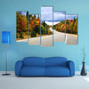 Fall scenic highway in northern Ontario, Canada multi panel canvas wall art