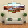 The Foliage Scenery at Hudson River Region in New York State Multi Panel Canvas Wall Art
