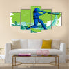 Concept of sportsman playing Cricket Vector illustration Multi panel canvas Wall art