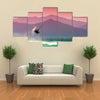 Kite surfers at Skinias beach in Greece Multi panel canvas wall art