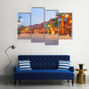 Scene Of A Beautiful Architecture Of Marina At Dusk, Cairo, Multi Panel Canvas Wall Art