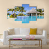 Hotel's swimming pool Tobago Multi panel canvas wall art