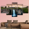 Landscape with a view of the waterfall in the Mongolia, multi panel canvas wall art