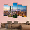 City of Taipei at night, Taiwan multi panel canvas wall art