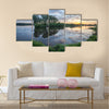 Swamp in the forest Multi panel canvas wall art