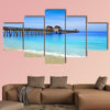 Naples Pier and beach in Florida, USA sunny day multi panel canvas wall art