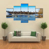 Arc bridge in Moscow public park Tsaritsyno background multi panel canvas wall art