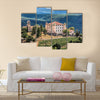 Aiguines Village and Renaissance-style Chateau mountains in Provence, France multi panel canvas wall art