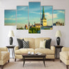 Stonia Tallinn,2016,vie of old city Tallinn Multi panel canvas wall art