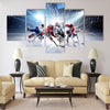 collage from professional hockey players in action Multi panel canvas wall art