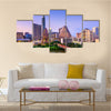The beauty of the Colorado river downtown the skyline in Texas, USA, Multi Panel Canvas Wall Art