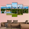 Denver Colorado downtown with City Park Multi panel canvas wall art