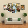 Canal in Venice between the old houses Multi panel canvas wall art