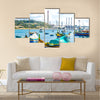 Marsaxlokk, famous fishermen village in Malta Multi Panel Canvas Wall Art