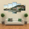 The Scenic Beauty Of The Sunset In The Port Of Mali Ston, Croatia, Multi Panel Canvas Wall Art