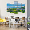 A Crowd City with A View of Rising above the sky In Armenia,  Multi Panel Canvas Wall Art