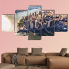 Aerial view of lower Manhattan New York City multi panel canvas wall art