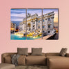 Fountain di Trevi in Rome, Italy multi panel canvas wall art
