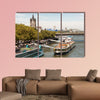 Cruise ships at the Rhine River bank in the city of Cologne, Germany wall art