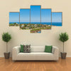 Aerial view landscape scene of Punta a watering place located in Maldonado Uruguay Multi panel canvas wall art