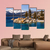 Lake Tahoe in winter multi panel canvas wall art