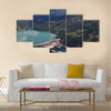 hydroelectric power plant on river Multi panel canvas wall art
