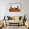 The Red Fort in Old Delhi, India Multi Panel Canvas Wall Art