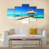 tropical beach in Punta Cana, Dominican Republic Multi Panel Canvas Wall Art