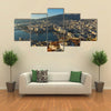 Amazing Panorama To Kavala, East Macedonia, Greece, Multi Panel Canvas Wall Art
