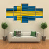 Realistic Flag of Sweden Multi Panel Canvas Wall Art