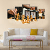 chess game in the streets close-up multi panel canvas wall art