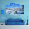 Beautiful winter landscape in the Netherlands Elswout Overveen multi panel canvas wall art