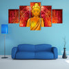 Lotus Position Of A Buddha With Mandala Background And Illuminated Face Multi Panel Canvas Wall Art