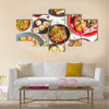 Assorted Chinese food set Top view of Chinese restaurant Asian style Multi Panel Canvas Wall Art