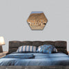 Bedouin house in Tunisia hexagonal canvas wall art