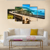 Bixby Creek Bridge On The Highway 1 At The US West, Multi Panel Canvas Wall Art