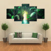 The Mangrove Rain Forest In Sri Lanka With Tunnel And Pathway In The Lush, Multi Panel Canvas Wall Art