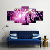 Crowd Raising their Hands and Enjoying great Festival Party Multi panel Canvas Wall Art