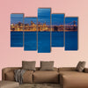 Bay Bridge and San Francisco at night Multi panel canvas wall art