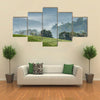 Gray morning fog over tea plantations Uganda Africa Multi panel canvas wall art