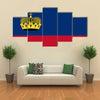 The Vector Illustration Of The Flag Of The Liechtenstein, Multi Panel Canvas Wall Art