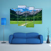 View of the Julian Alps from Gozd Martuljek in Slovenia multi panel canvas wall art