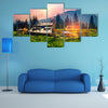 High In The Mountains Of The Shepherds Of Sheep And Cows Build Home Multi Panel Canvas Wall Art