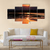 Sunset on the Zambezi River Africa Border of Zambia and Zimbabwe Multi panel canvas wall art