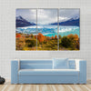 Scene Of A Glacier In Winter With Various Colored Land, Multi Panel Canvas Wall Art