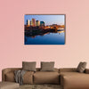 Sacramento skyline at night multi panel canvas wall art