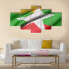3d rendering of Republic of the Union of Myanmar flag waving Multi panel canvas wall art