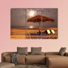 The sunset beach landscape multi panel canvas wall art