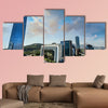 Santiago City Center-Chile, business center of Santiago day landscape, Multi Panel Canvas Wall Art